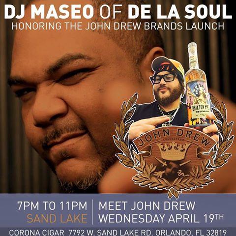 John Drew Brands Launch Featuring DJ MASEO from De La Soul!